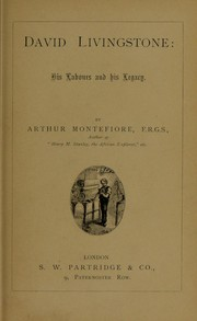 Cover of: David Livingstone