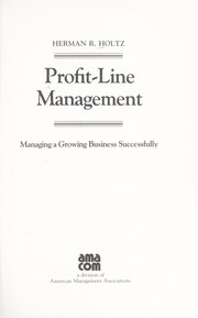 Cover of: Profit-line management