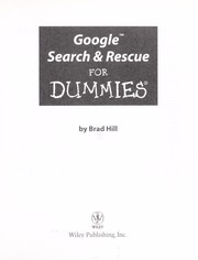 Cover of: Google search & rescue for dummies