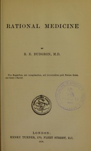 Cover of: Rational medicine