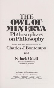 Cover of: The Owl of Minerva, philosophers on philosophy