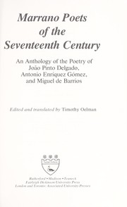 Cover of: Marrano poets of the seventeenth century | edited and translated by Timothy Oelman.