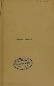 Cover of: Sexual ethics