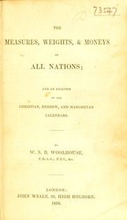 Cover of: Measures, weights, & moneys of all nations