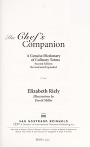 Cover of: The chef's companion | Elizabeth Riely