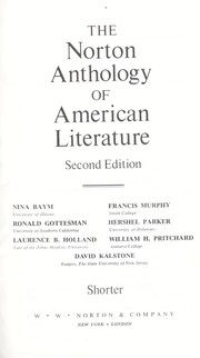 Cover of: The Norton anthology of American literature