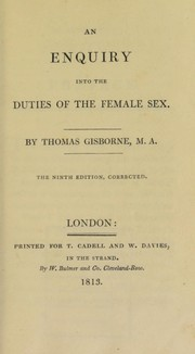 Cover of: An enquiry into the duties of the female sex