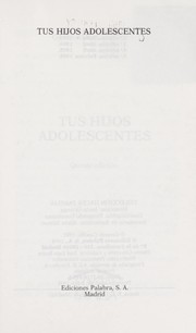 Cover of: Tus Hijos Adolescentes | Gerardo Castillo