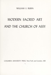 Cover of: Modern sacred art and the church of Assy