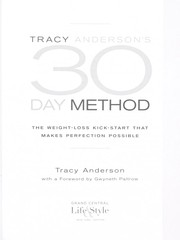 Cover of: Tracy Anderson's 30 day method
