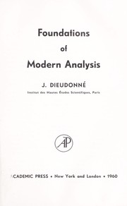 Cover of: Foundations of modern analysis