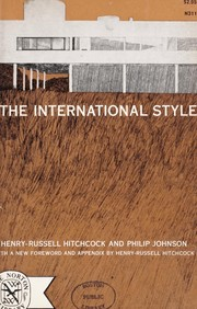 Cover of: The international style