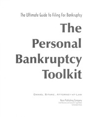 Cover of: The personal bankruptcy toolkit