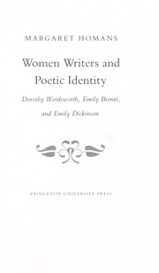 Cover of: Women Writers and Poetic Identity