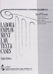 Cover of: Labor & employment law, text & cases | David P. Twomey
