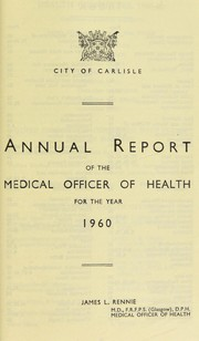 Cover of: [Report 1960]