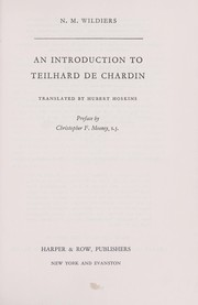 Cover of: An introduction to Teilhard de Chardin