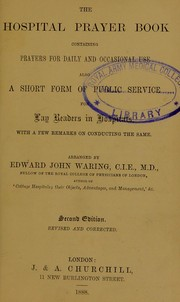 Cover of: The hospital prayer book | Edward John Waring