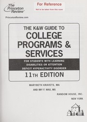 Cover of: The K & W guide to college programs & services for students with learning disabilities or attention deficit hyperactivity disorder