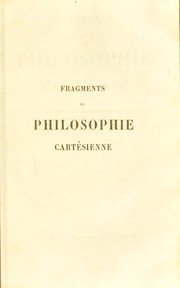 Cover of: Fragments de philosophie cart©♭sienne