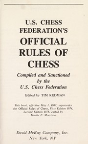 Cover of: U.S. Chess Federation's official rules of chess | United States Chess Federation.