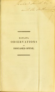 Cover of: Observations on diseased spine | John Bishop Estlin