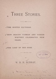 Cover of: Three stories