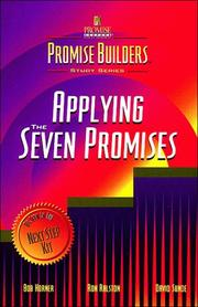 Cover of: The Promise Builders Study Series (Applying the Seven Promises) | Bob Horner