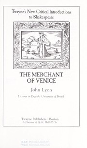 Cover of: The Merchant of Venice | Lyon, John