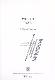 Cover of: World War I | Michael J. Lyons
