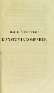 Cover of: Trait©♭ ©♭l©♭mentaire d'anatomie compar©♭e