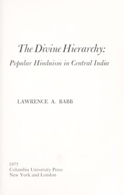 Cover of: The divine hierarchy | Lawrence A. Babb