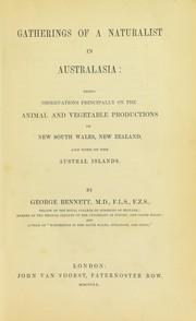 Cover of: Gatherings of a naturalist in Australasia