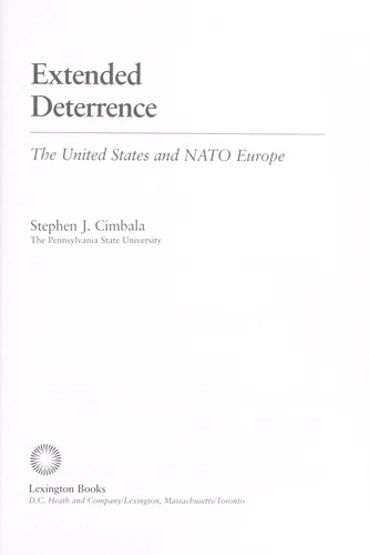 Extended deterrence : the United States and NATO Europe by