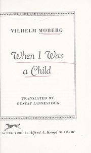 Cover of: When I was a child