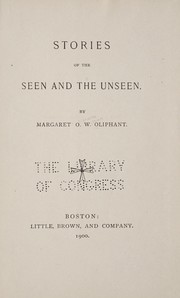 Cover of: Stories of the seen and the unseen