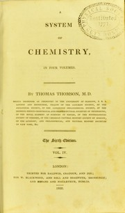 Cover of: A system of chemistry