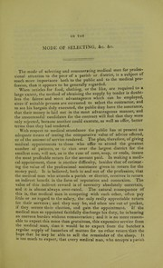 Cover of: On the mode of selecting and remunerating medical men for professional attendance on the poor of a parish or district : read before the Hunterian Society