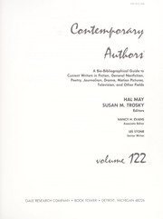 Cover of: Contemporary Authors, Vol. 122 | Hal May