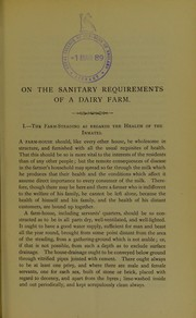 On the sanitary requirements of a dairy farm