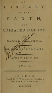 Cover of: An history of the earth, and animated nature