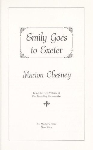 Emily goes to Exeter by Marion Chesney