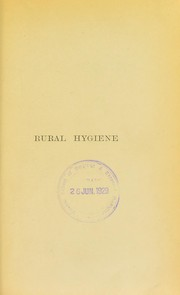 Cover of: Essays on rural hygiene