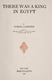 Cover of: There was a king in Egypt | Norma Lorimer