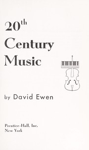 Cover of: The complete book of 20th century music