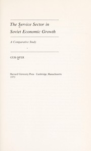 Cover of: The service sector in Soviet economic growth