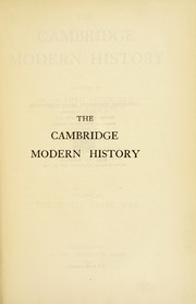 Cover of: The Cambridge modern history