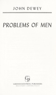 Cover of: Problems of men