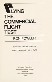 Cover of: Flying the commercial flight test