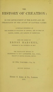 Cover of: The history of creation